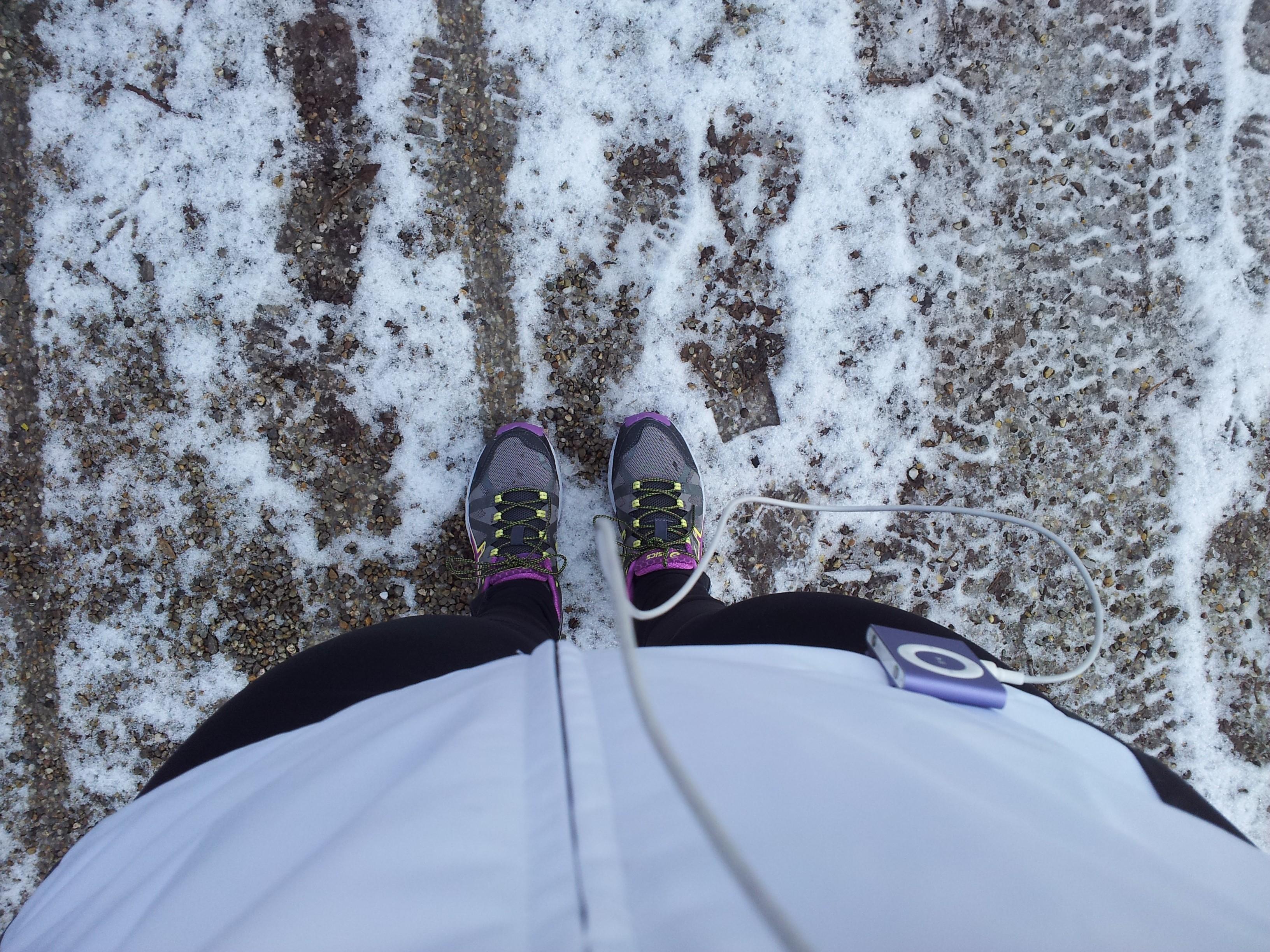 Schnee unter den Füßen